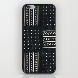 Mud cloth in black and white iPhone Skin
