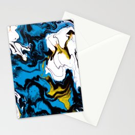 Dreamscape 01 in Blue, White & Gold Stationery Cards