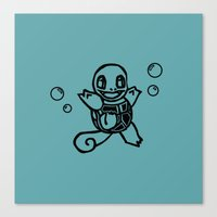 squirtle Canvas Prints featuring Squirtle  by Luis Patino