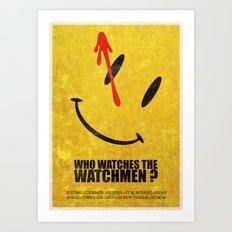 The Watchmen (Super Minimalist series) Art Print