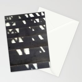 Shadows on Concrete Staircase Stationery Cards
