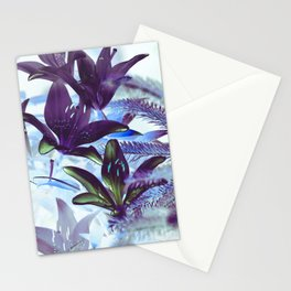 Moonlight Lillies Stationery Cards