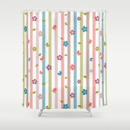 Spring Impromptu Stripes Shower Curtain