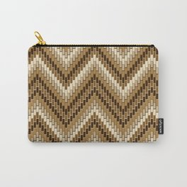 Dimensional Herringbone Carry-All Pouch