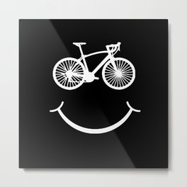 Bicycle Mountain Bike Cyclist Gift Metal Print