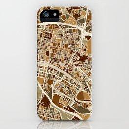 Glasgow Street Map iPhone Case