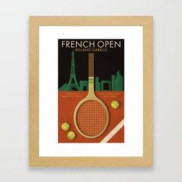 French open tennis poster Framed Art Print