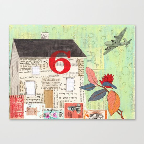 House Number 6 Canvas Print