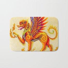 Singha Winged Lion Temple Guardian Bath Mat