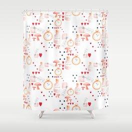 Alice in Wonderland - White Dream Shower Curtain