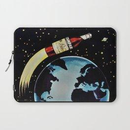 Vintage 1963 Rocket Bottle & Planet Bitter Campari Advertisement Laptop Sleeve