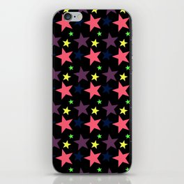 Happy Stars on Black iPhone Skin