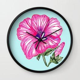 Flower sketch Wall Clock
