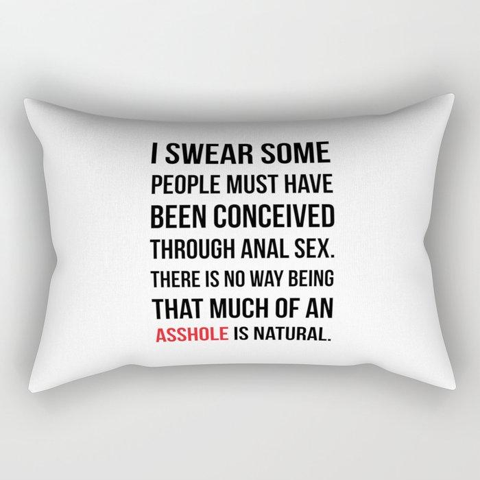 Asshole Rectangular Pillow