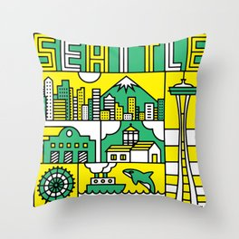 Seattle, Washington Throw Pillow