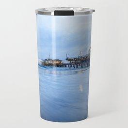 SANTA MONICA PIER SUNSET CALIFORNIA PHOTOGRAPHY Travel Mug