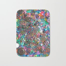 Chase the Gears Bath Mat