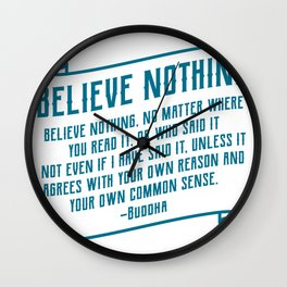 Believe Nothing Funny Mechanic Office Gift Wall Clock