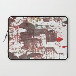 Deep Taupe abstract watercolor Laptop Sleeve