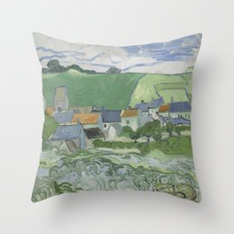 View of Auvers Throw Pillow