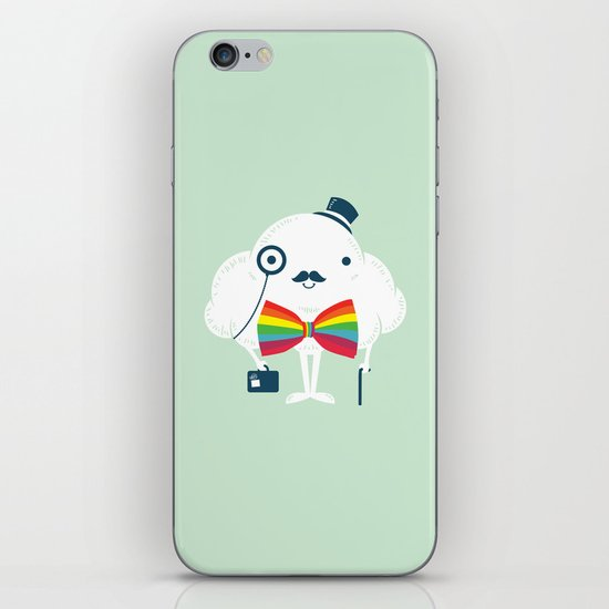 Rainbow-tie gentleman iPhone Skin