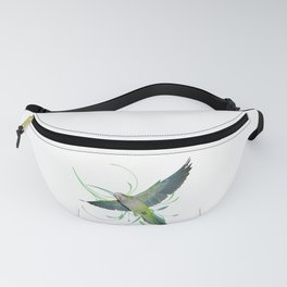 Flying quaker parrot Fanny Pack