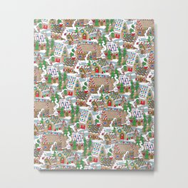 Gingerbread Village Metal Print