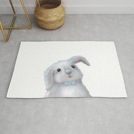 White Rabbit Boy isolated Rug