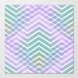 Chevron Waves Canvas Print