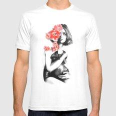 Natalia Vodianova // Fashion Illustration Mens Fitted Tee MEDIUM White