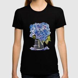 Hydrangea painting T-shirt