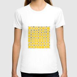 yellow squares pattern T-shirt