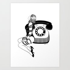 Waiting for your call Art Print