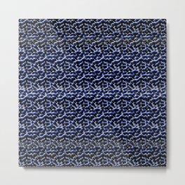 Blue Metal Metal Print