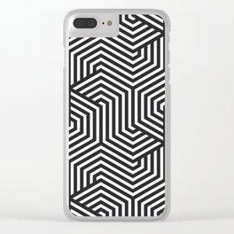 Raisin black - black - Minimal Vector Seamless Pattern Clear iPhone Case