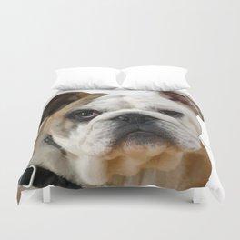 American Bulldog Background Removed Duvet Cover