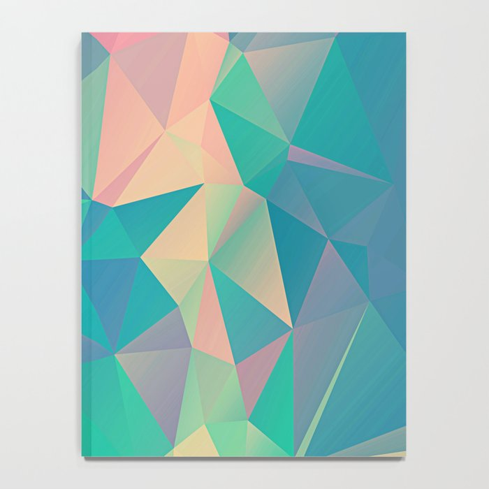 Fractured, Colorful Triangles Geometric Shapes Notebook