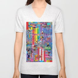 12 Digital 1 Unisex V-Neck