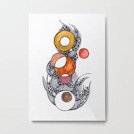 """""""Circles VI"""" - abstract watercolor circles art. Metal Print"""