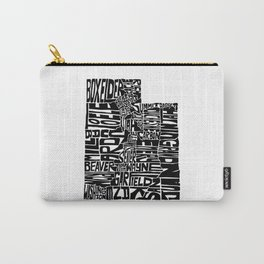 Typographic Utah Carry-All Pouch