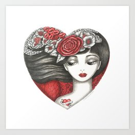 Valentine Girl Art Print