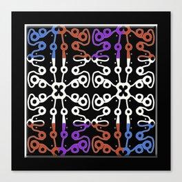 Batik like, multicolored  Canvas Print