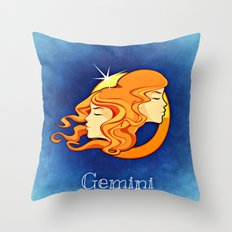 Zodiac_Sign_Twins Throw Pillow