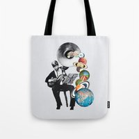 elf Tote Bags featuring DMT Elf by Eugenia Loli