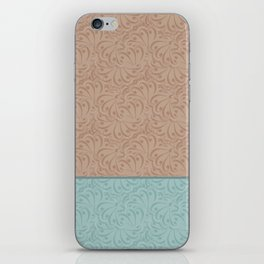 Combo beige turquoise abstract pattern . iPhone Skin