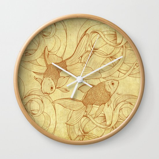 Vintage Goldfishes  Wall Clock