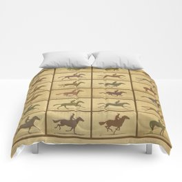 Time Lapse Motion Study Horse muted Comforters