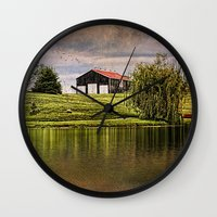 kentucky Wall Clocks featuring Kentucky CountrySide by ThePhotoGuyDarren