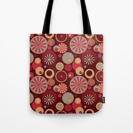 Circle Frenzy - Red Tote Bag