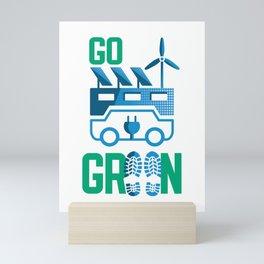Go Green & Renewables Mini Art Print